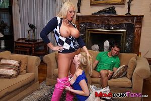 Karen Fisher Pornstar & Molly Bennett in Moms Bang Teens