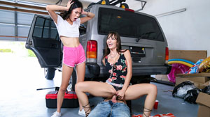 Lexi Luna and Vina Sky Mechanic Appreciation at Moms Bang Teens!