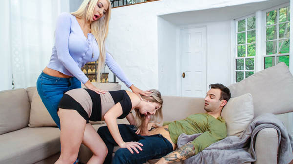 Nicolette Shea and Vienna Rose Dick Pic Interference at Moms Bang Teens!